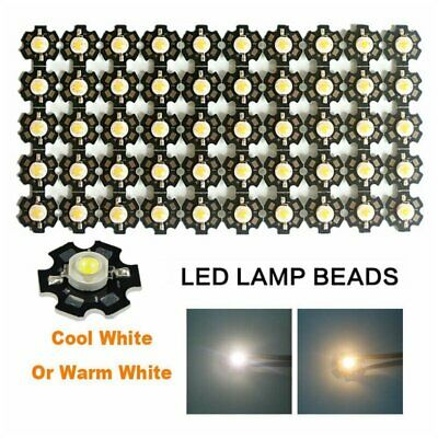 10/50/100Pcs 1W 3W Warm White High Power SMD LED Chip Lamp COB Lights With PCB