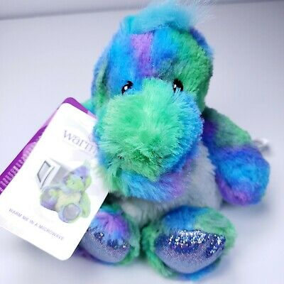Warmies by Intelex Cozy Plush Rainbow Dinosaur New