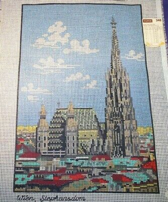 Needlepoint Canvas Hand Printed Vienna Austria Wien Stephansdom Cathederal 8x12