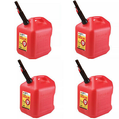 Midwest Can 4PK Gas Can - 5 Gallon Capacity, (Pack of 4)