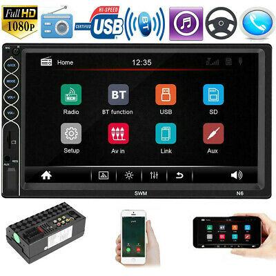 7 Inch Double 2 DIN Car FM Stereo Radio Touch Screen Bluetooth USB/HD MP5 Player