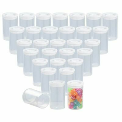 30 Pcs Clear Film Canisters with Caps for 35mm, Storage for Small Accessories