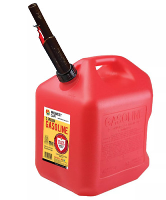 Gas Can 5 Gallon w FLAME SHIELD, Will Not Rust, BEST PRICE & FREE 3 DAY SHIPPING