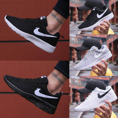 Mens Womens Pumps Trainers Lace Up Mesh Sports Running Casual Shoes Size