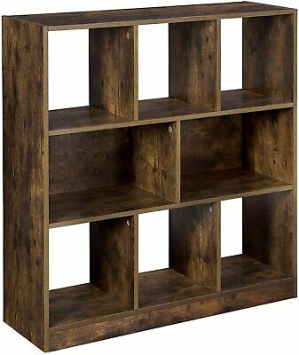 Wooden Bookcase Bookshelf Storage with Open Cubes Shelves Office Display LBC52BX