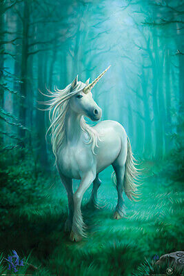 NEW 3D MOVING PICTURE POSTER 300mm X 420mm ANNE STOKES SOLACE UNICORN