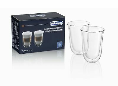 Delonghi 2 Cups Double Wall Thermal Glass Borosilicate Latte 220ml