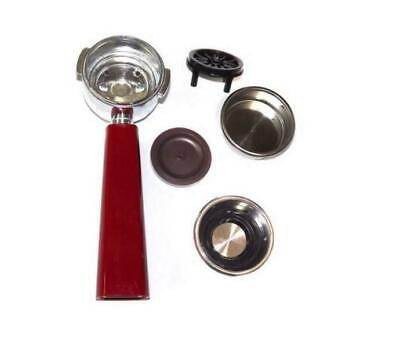 Aries Arm Filter Holder Red with 2 filters for coffee machine retro 1388