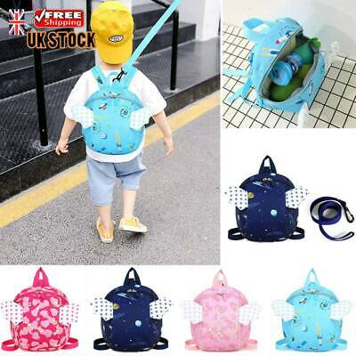 Cartoon Bags Baby Toddler Kids Safety Harness Strap Bag Backpack with Reins UK