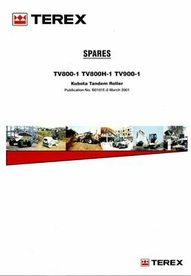 PDF Download Terex Spares Book TV800-1 TV800H-1 TV900-1 Kubota Tandem Roller