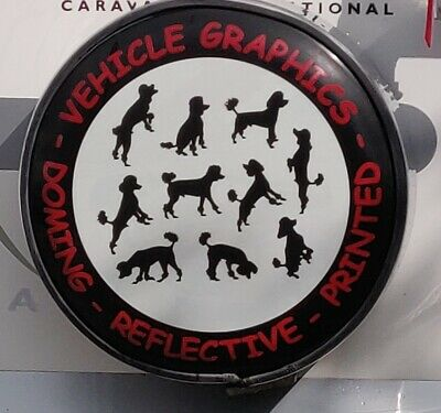 Poodle Spare Wheel Cover Photoluminescent Graphic for plastic/metal Disc