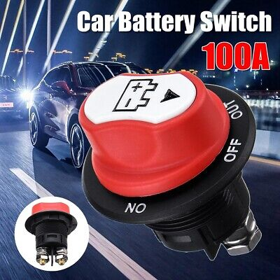 12V 100A Disconnect Battery Isolator Cut Off Kill Switch Key For Car Marine Boat