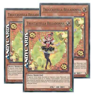 3x TRUCCASTELLA BELLADONNA (Trickstar Nightshade) • Comune • MP19 IT004 • Yugioh