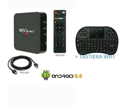 Tv Box Android 9.0 Iptv 4K Full Hd 1080P 2Gb 16Gb Ram Smart Decoder Wifi Mxq Pro