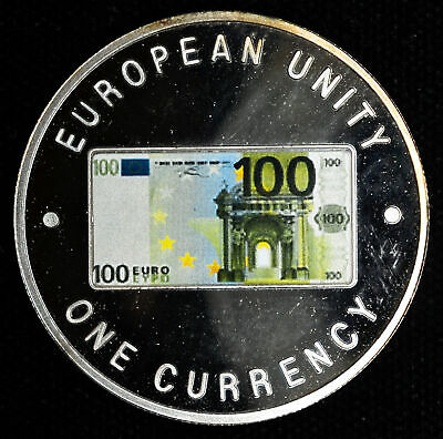 Zambia 1000 Kwacha 1999 Superb Gem Proof European Unity One Currency 100 Euro Ob