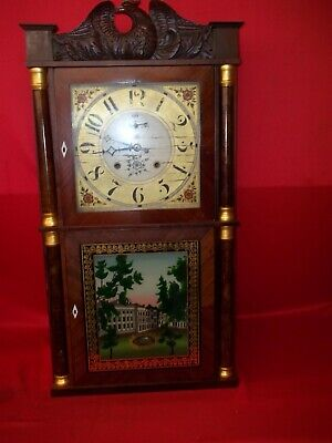 Very Nice Looking Old Original 8 Day Seymour Williams & Porter Wood Works Clock