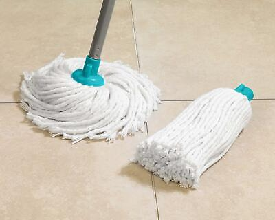 Deluxe Mop With Two Absorbent Cotton Heads Handle All Type Floor Cleaning