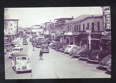 Real Photo Toms River New Jersey Downtown Street Scene Cars Postcard Copy