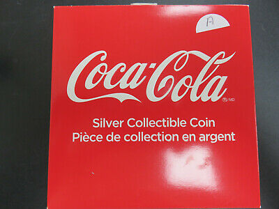 Coca Cola Bottle Cap 2018 Fiji $1 6 gram .999 Silver Proof Coin In Box/COA