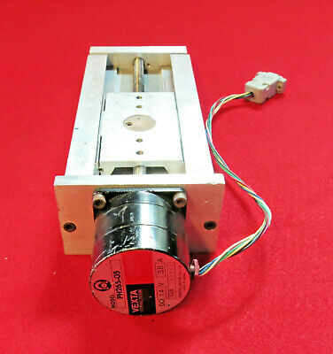 "Motorized Linear Rail Stage 4"" travel with Vexta PH265-05 Stepper Oriental Motor"