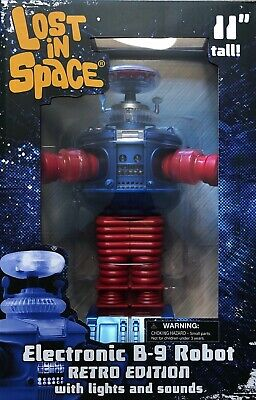 "New MIB Diamond Select LOST In SPACE 11"" Electronic B-9 Robot RETRO Edition"