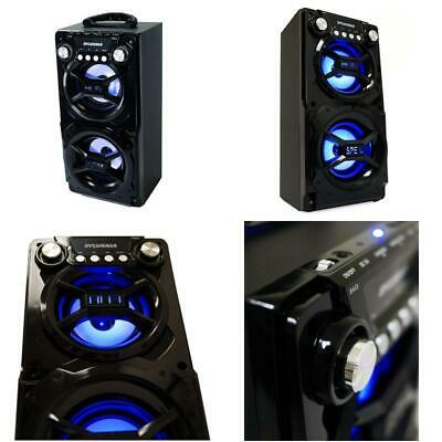 Party Speaker System Bluetooth Big Led Portable Stereo Light Up Tailgate Loud