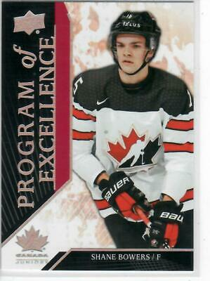 2019 Ud Team Canada Juniors Program Of Excellence Shane Bowers #113
