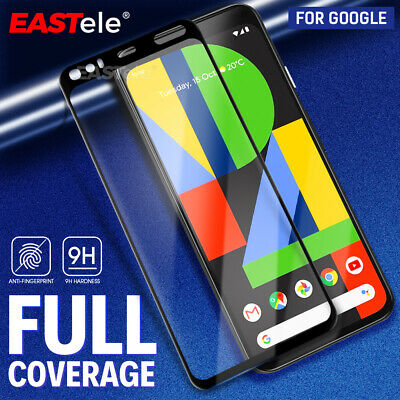 For Google Pixel 4 3A XL Screen Protector, Premium 9H Full Cover Tempered Glass