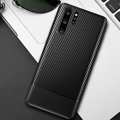 For Samsung Galaxy Note 10 Plus Anti-shock Carbon Fiber Silicone Thin Case Cover