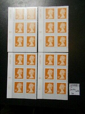 24 x GB 2019~Security Machin~10p~SG U2923~M19L~S/A~WB~Unmounted Mint~UK