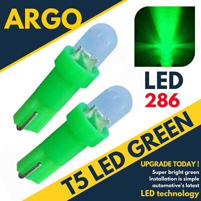 T5 286 LED Ultra Vert Tableau Ampoules Xenon Hid 12V Wedge Cadrans Voiture