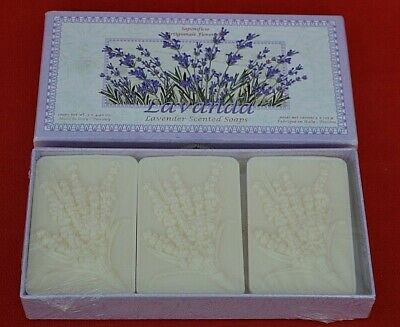 Italian Lavender Fragranced  Luxury Hand Soap - 3 Bars!   Sealed Condition!