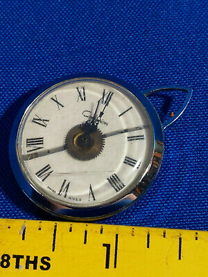 Vintage Criterion Swiss Made Pocket Watch Silver-tone Mid Century-Art Deco