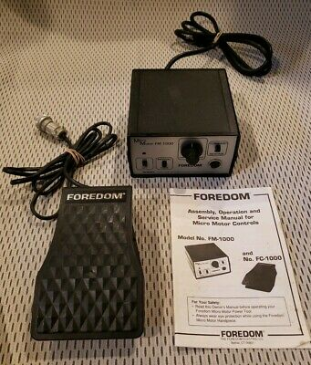 Foredom Micromotor FM1000 Control Unit W/ Foot Pedal