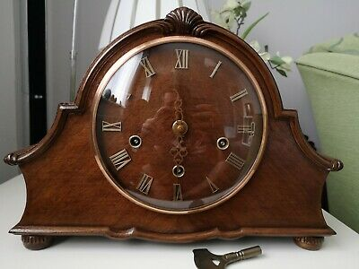 Smith's Enfield Vintage Westminster Chiming Mantel Clock Circa 1950