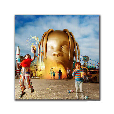 A931 Travis Scott Astroworld Day Night Cover Poster 2019 Album Decor print 24x24