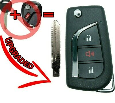 UPGRADED FLIP REMOTE Key FOB for 03-06 Chevrolet Cadillac