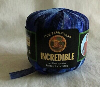 Carnival 21345 NEW Incredible Lion Brand Ribbon Yarn For Knit /& Crochet