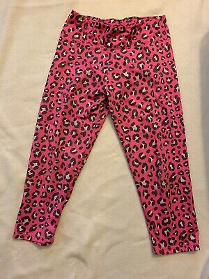 Justice Girls Size 16 Pink Leopard Crop Leggings EUC