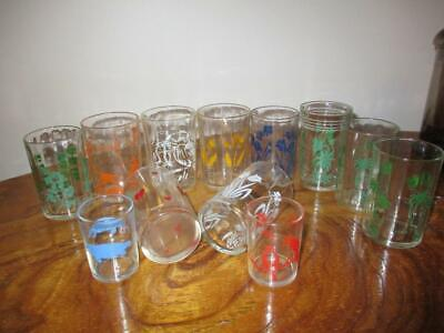 "Vintage Bulk Lot of x 12 Assorted SWANKY SWIGS ""Great Lot"" Promo Glasses"
