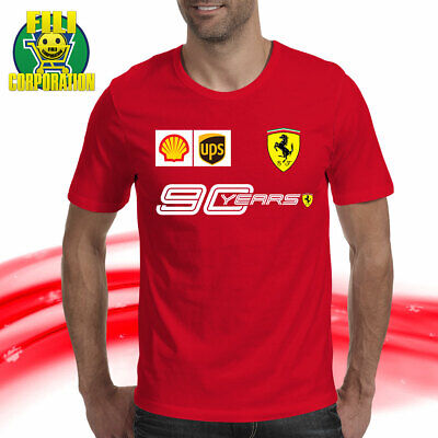 T-SHIRT SCUDERIA FERRARI 90 YEARS F1 TEAM VETTEL 5 RACING LECLERC 16 filicorpora