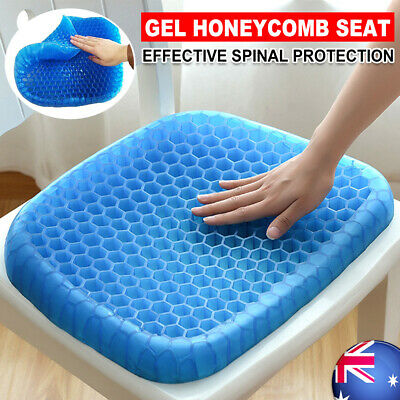 Gel Seat Cushion Comfort Honeycomb Flex Back Support Spine Protector AU