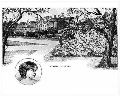 "19234867 10""x8"" (25x20cm) Print Kensington Palace with Princess V..."