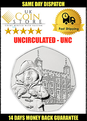 50p Fifty Pence Coin - Paddington Bear Tower of London 2019 Uncirculated UNC