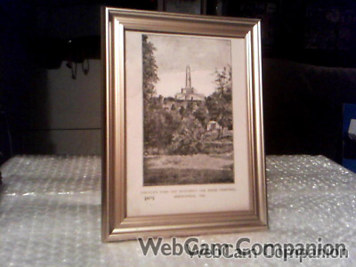 Lincolns Tomb And Monument Oak Ridge Cemetery, Ill Antique Framed Print From1898
