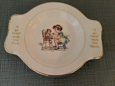 Vintage Ceramic Baby Food Bowl Salem China