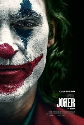 "Joker half a face Movie Poster  24"" x 36"" or  27""x 40"""