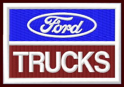 "FORD TRUCKS EMBROIDERED PATCH ~3-1/2""x 2-3/8"" V8 F750 F650 F350 F250 F150 L7000"