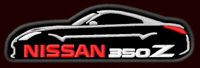 "NISSAN 350Z SILHOUETTE EMBROIDERED PATCH ~4-5/8"" x 1-3/8"" HATCHBACK ROADSTER V6"