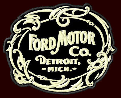 "FORD MOTOR CO. EMBROIDERED PATCH ~3-5/8""x 2-7/8"" MODEL T PICK UP V8 F150 250 350"